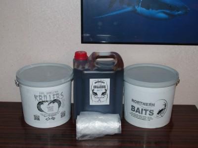 Boilies, krillicious og plastposer-klar til jobb