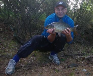 Fisk på land-legg merke til den elegante benføringen! Foto:KArl Inge S/selvutløser