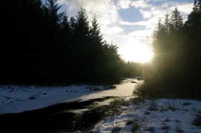 Motsol og vinterbekk Foto:KIS