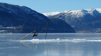 Isfiske på Etnefjorden Foto:Karl Inge Stumo